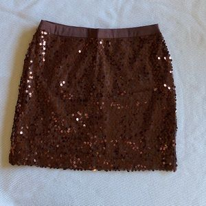 Banana Republic Brown Sequin Mini Skirt